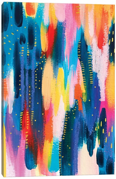 Bright Brush Strokes VIII Canvas Art Print