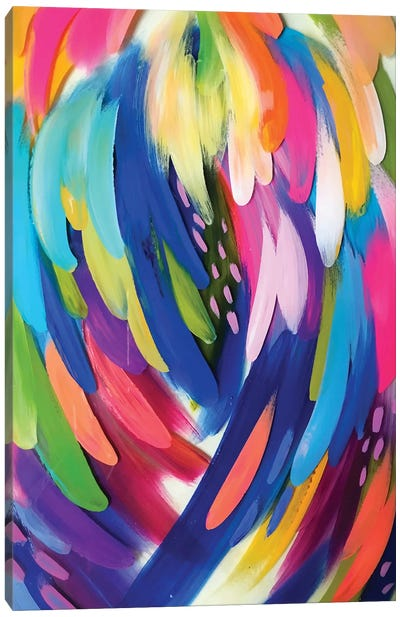 Bright Brush Strokes X Canvas Art Print