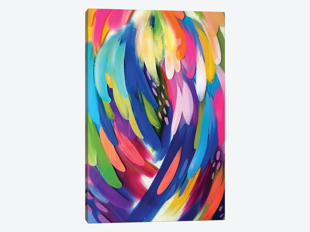 Bright Brush Strokes X 1-piece Canvas Print