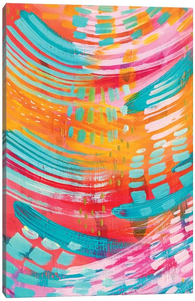 Bright Brush Strokes XIII Canvas Art Print