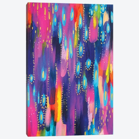 Bright Brush Strokes XV Canvas Print #ETV38} by ETTAVEE Canvas Artwork