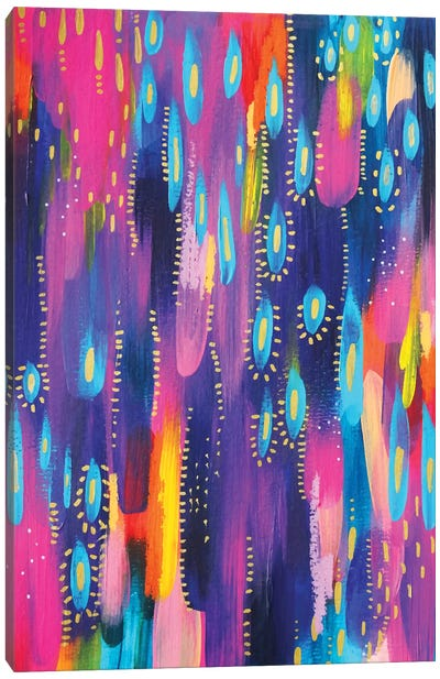 Bright Brush Strokes XV Canvas Art Print