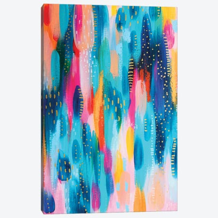 Bright Brush Strokes XVII Canvas Print #ETV40} by ETTAVEE Canvas Print