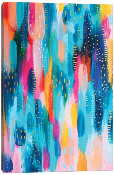 Bright Brush Strokes XVII Canvas Art Print