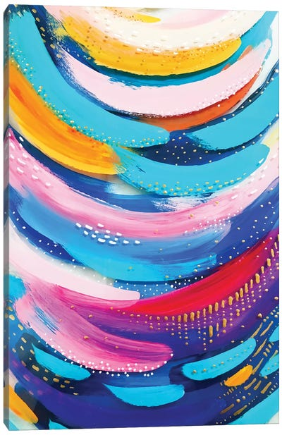 Bright Brush Strokes XX Canvas Art Print