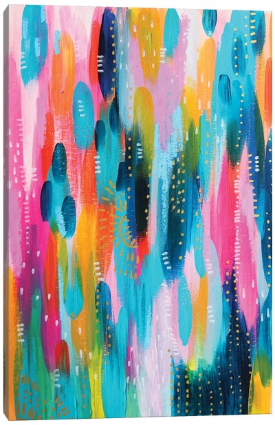 Bright Brush Strokes XXVII Canvas Art Print