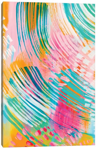Bright Brush Strokes XXXII Canvas Art Print