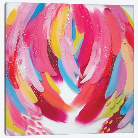 Bright Brush Strokes XXXV Canvas Print #ETV57} by ETTAVEE Canvas Print
