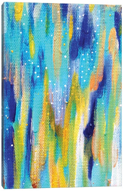 Bright Brush Strokes XXXVI Canvas Art Print