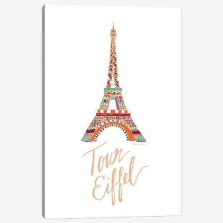Eiffel Bronze Canvas Print #ETV61} by ETTAVEE Canvas Art Print
