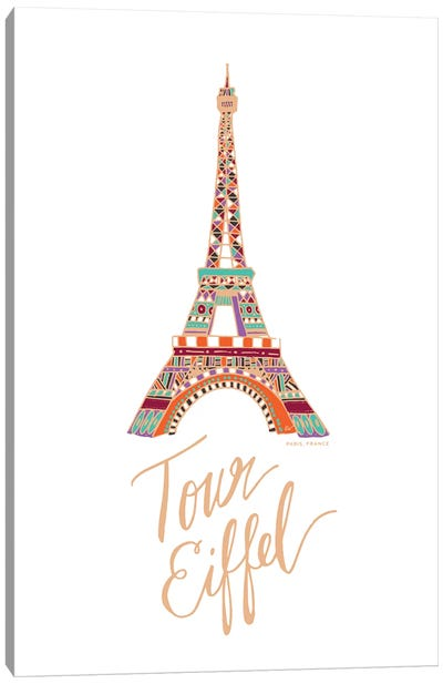 Eiffel Bronze Canvas Art Print