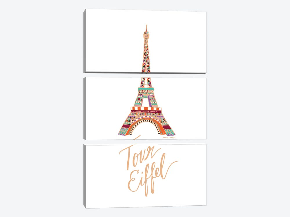 Eiffel Bronze by ETTAVEE 3-piece Canvas Wall Art