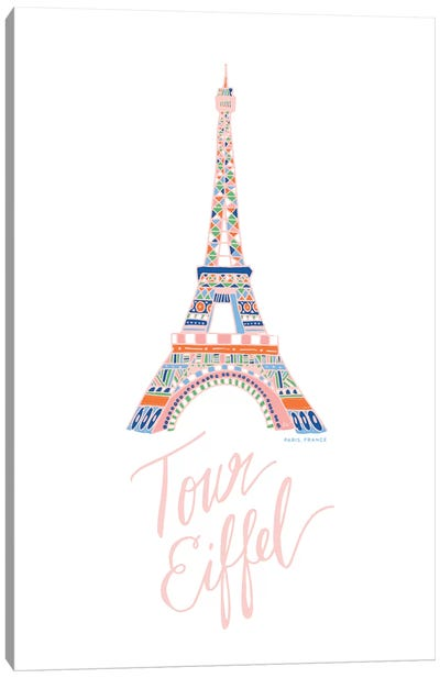 Eiffel Pink Canvas Art Print