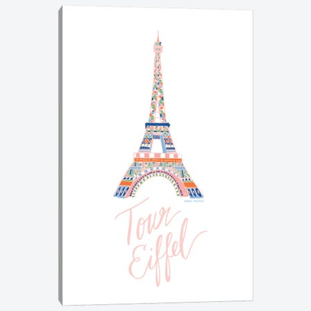 Eiffel Pink Canvas Print #ETV62} by ETTAVEE Canvas Print