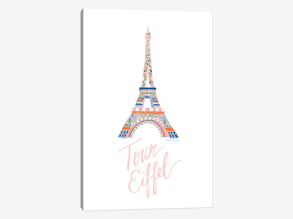 Eiffel Pink by ETTAVEE 1-piece Canvas Art Print