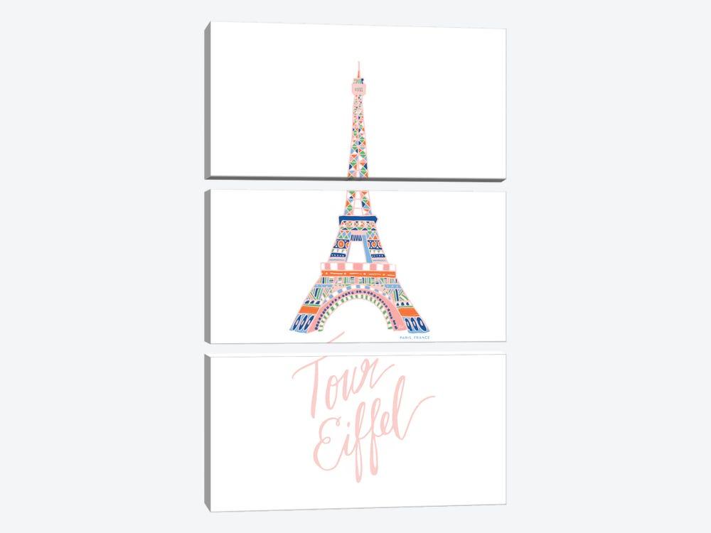 Eiffel Pink by ETTAVEE 3-piece Art Print