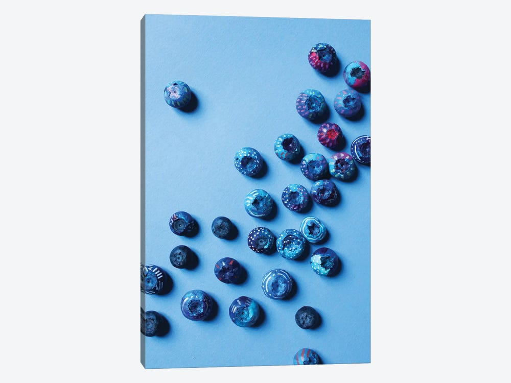 Fiesta Fruit Blueberries by EttaVee 1-piece Art Print