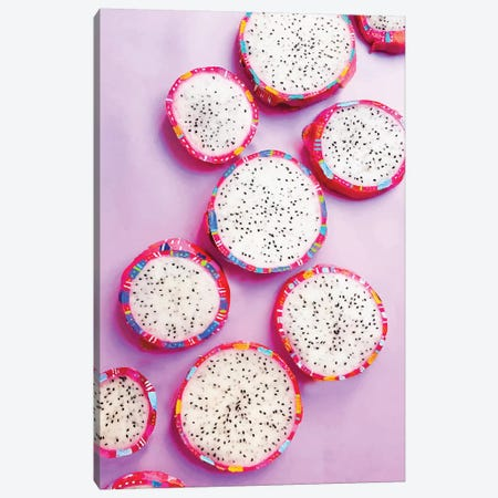 Fiesta Fruit Dragonfruit Canvas Print #ETV67} by ETTAVEE Canvas Wall Art