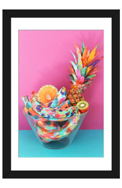 Fruit Bowl Framed Art Print