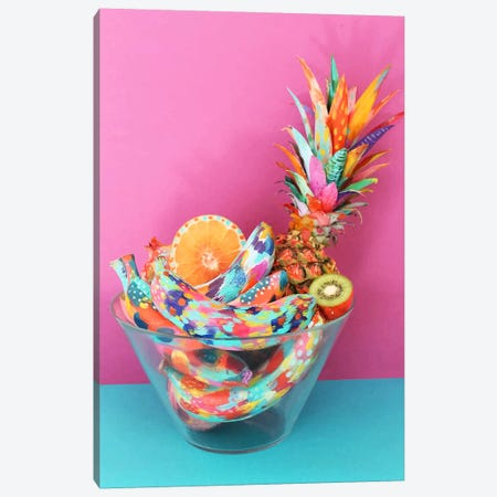 Fiesta Fruit Fruit Bowl Canvas Print #ETV68} by ETTAVEE Art Print