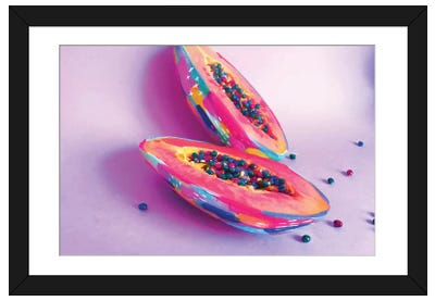 Papaya Framed Art Print