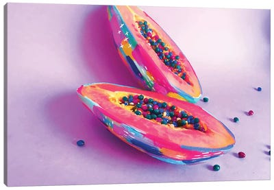 Fiesta Fruit Papaya Canvas Art Print