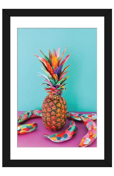 Pineapple & Bananas Framed Art Print