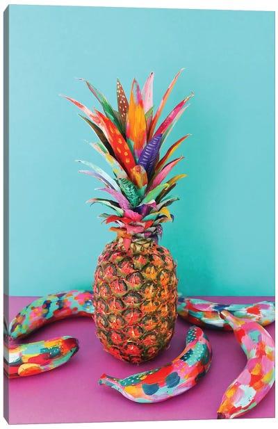 Pineapple & Bananas Canvas Art Print