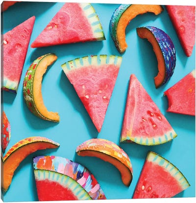 Fiesta Fruit Watermelon & Cantaloupes Canvas Art Print