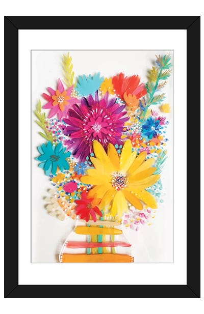 Bouquet IV Framed Art Print