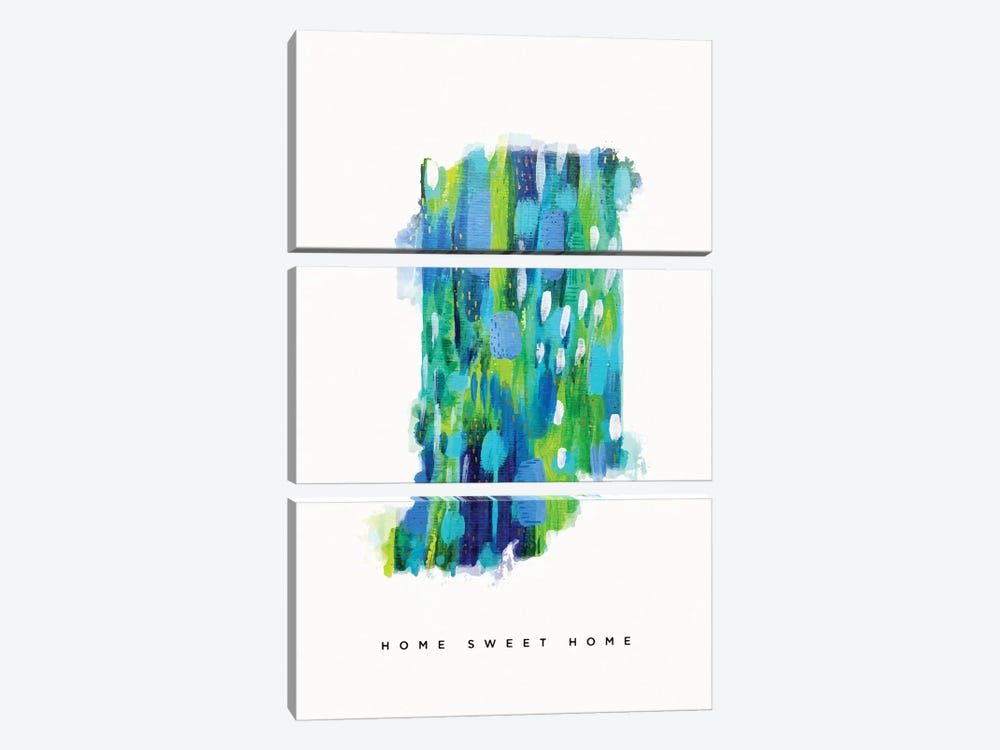 Indiana, Blue Green by ETTAVEE 3-piece Canvas Art Print