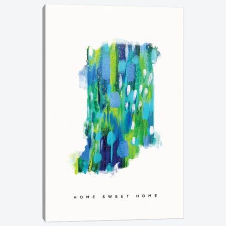 Indiana, Blue Green Canvas Print #ETV82} by ETTAVEE Art Print