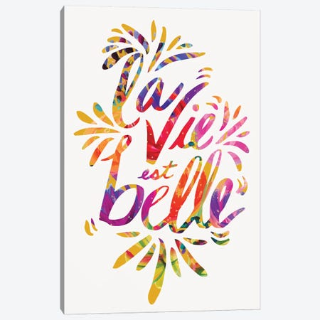 La Vie Canvas Print #ETV84} by ETTAVEE Canvas Artwork