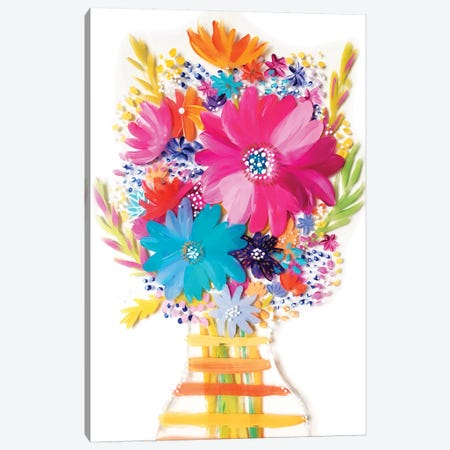 Bouquet V Canvas Print #ETV8} by ETTAVEE Canvas Wall Art