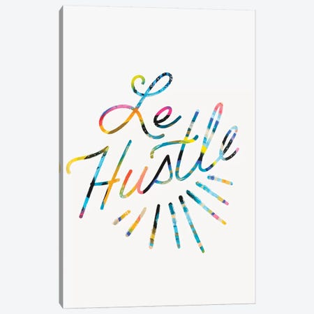 Le Hustle Canvas Print #ETV91} by ETTAVEE Canvas Wall Art