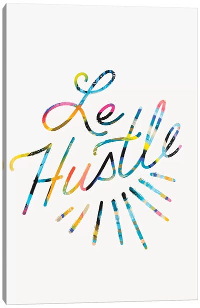 Le Hustle Canvas Art Print