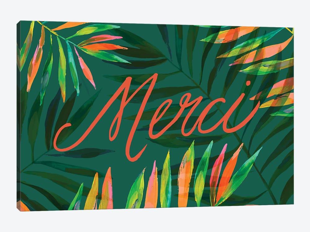 Merci Palms, Green by ETTAVEE 1-piece Canvas Wall Art