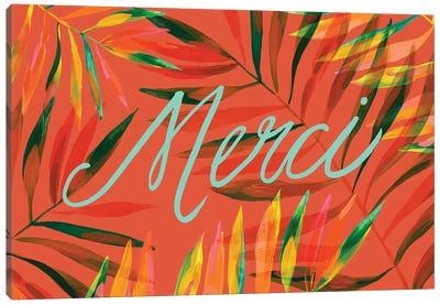 Merci Palms, Orange Canvas Art Print