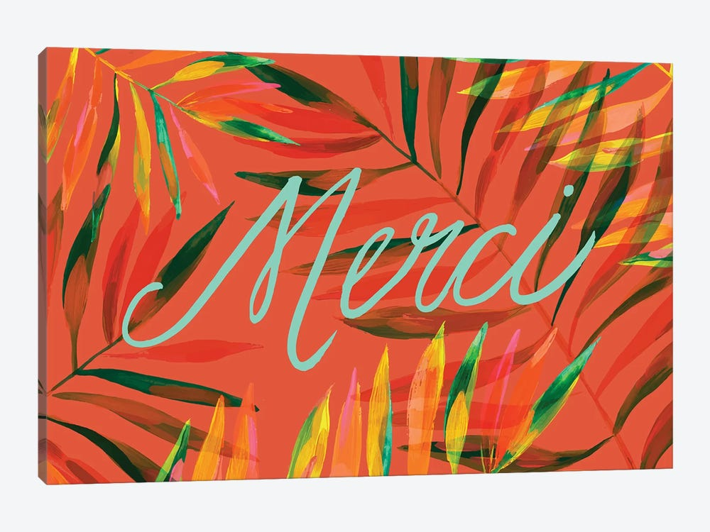 Merci Palms, Orange by ETTAVEE 1-piece Canvas Print