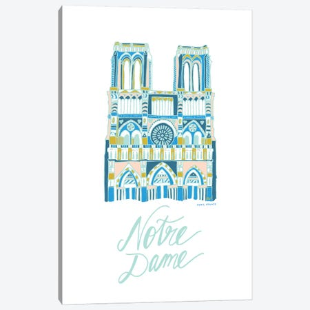 Notre Dame Canvas Print #ETV99} by ETTAVEE Canvas Art