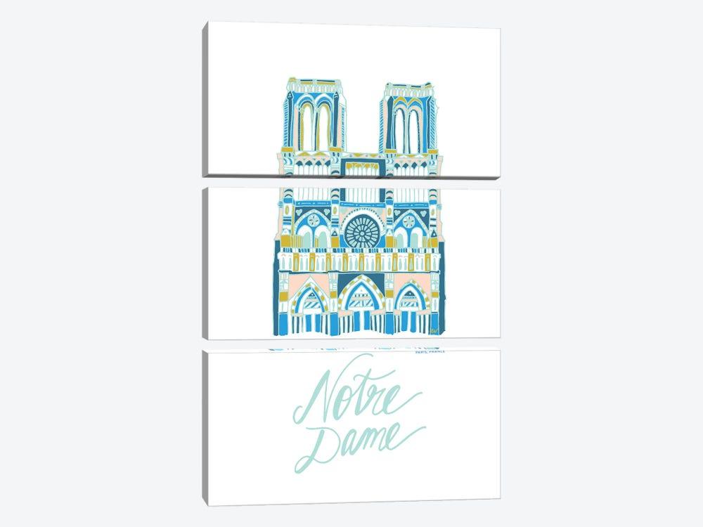 Notre Dame by ETTAVEE 3-piece Canvas Art Print