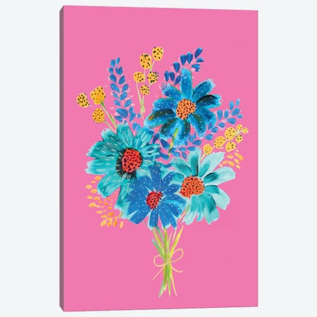 Bouquet VI Canvas Print #ETV9} by ETTAVEE Canvas Artwork