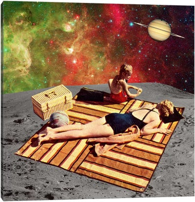 Eugenia Loli - Lunar Vacations Canvas Art Print