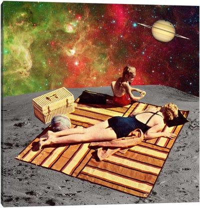 Eugenia Loli - Lunar Vacations Canvas Art Print