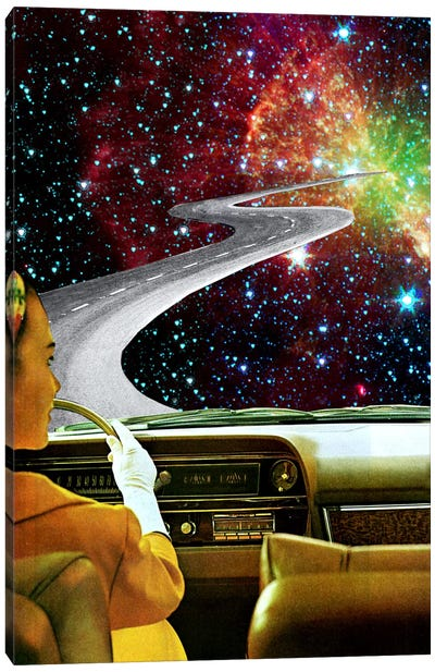 Eugenia Loli - On The Road To The Akashic Library Canvas Art Print