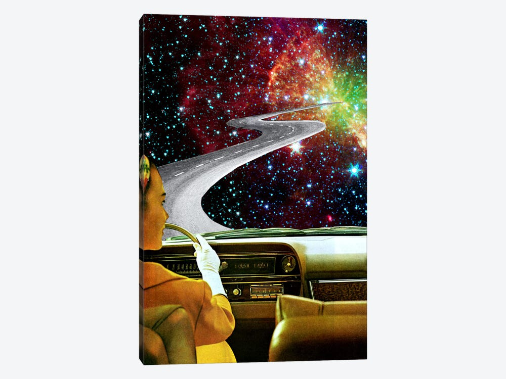 Eugenia Loli - On The Road To The Akashic Library 1-piece Canvas Wall Art