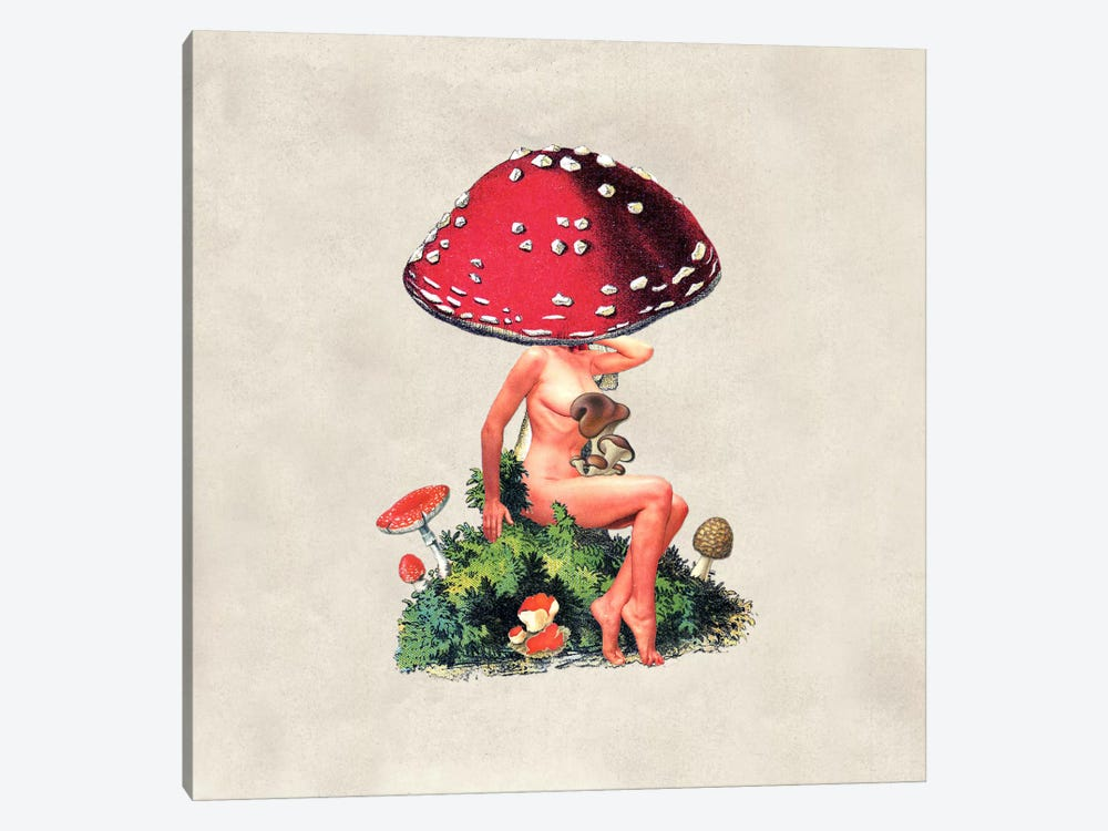 Eugenia Loli - Shroom Girl by Eugenia Loli 1-piece Canvas Print