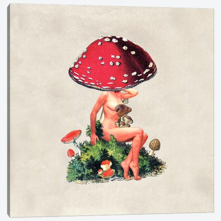 Eugenia Loli - Shroom Girl Canvas Print #EUG28} by Eugenia Loli Canvas Art Print
