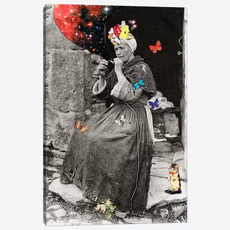 Eugenia Loli - Smoking Woman Canvas Print #EUG29} by Eugenia Loli Art Print