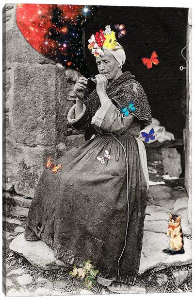 Eugenia Loli - Smoking Woman Canvas Art Print